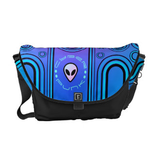 Electric Blue Industrial Cyber Punk Futuristic Commuter Bag
