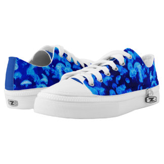 Electric blue jelly fish low tops