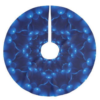 Electric Blue Kaleidoscope Tree Skirt Brushed Polyester Tree Skirt