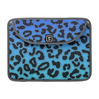 Electric Blue Leopard Animal Print Sleeves For MacBook Pro
