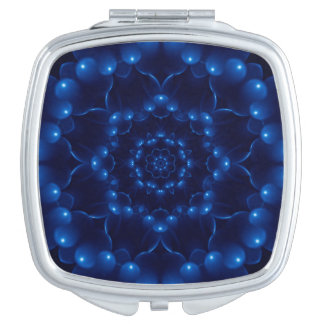 Electric Blue Mandala Compact Mirror