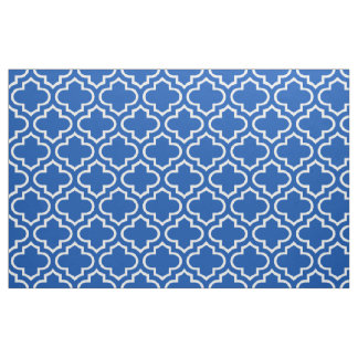 Electric Blue Moroccan Trellis Pattern Fabric 02
