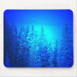 Electric blue pines mouse pad
