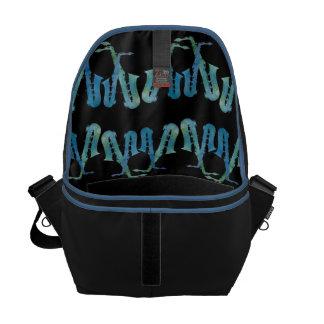 Electric Blue Saxes Commuter Bag