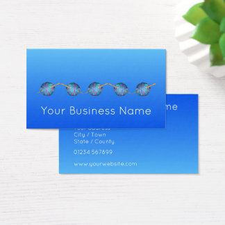 Electric blue shaded crochet modern simple elegant business card