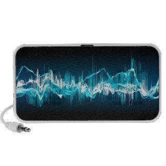 Electric blue sound wave speaker