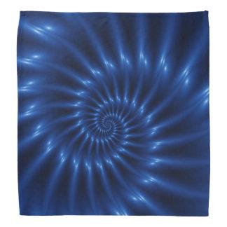 Electric Blue Spiral Fractal Bandana