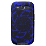 electric blue spiral Galaxy case
