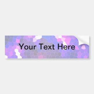 Electric blue stained glass bumper stickers