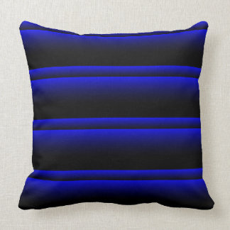 Electric Blue Stripes Cushion