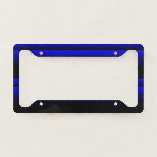 Electric Blue Stripes Licence Plate Frame