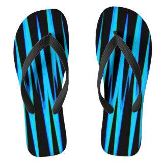ELECTRIC BLUE wrap (an abstract art design) ~ Flip Flops