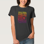 Electric Blues Vintage Rock Poster T-shirt
