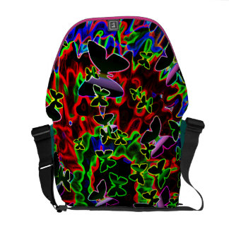 electric butterfly art Rickshaw messenger bag