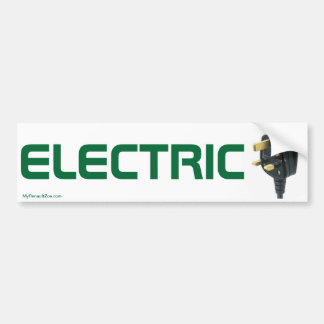 Electric Car Bumper Sticker