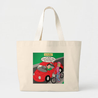 Electric Car Issues Large Tote Bag