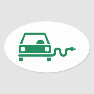 Electric car oval sticker