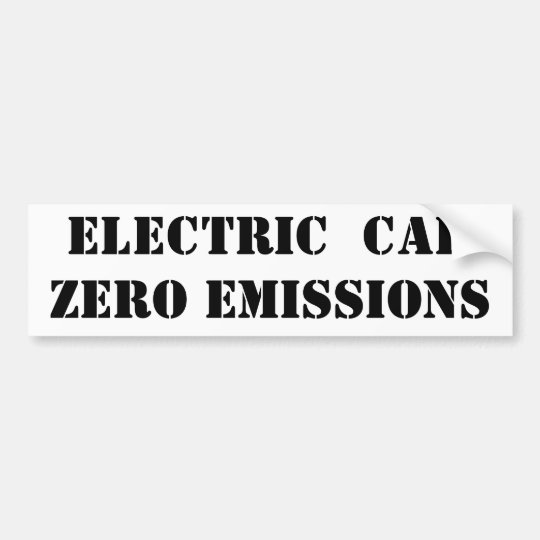ELECTRIC CAR ZERO EMISSIONS BUMPER STICKER