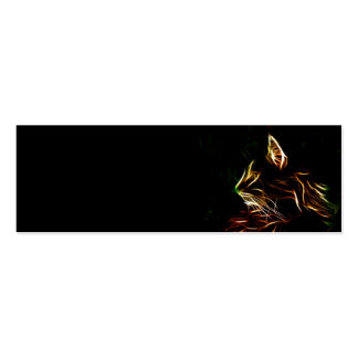 Electric cat face profile bookmark pack of skinny business cards