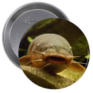 Electric catfish 10 cm round badge