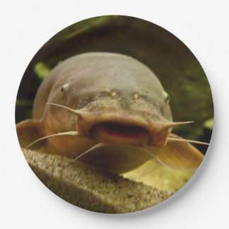 Electric catfish 9 inch paper plate