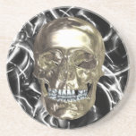 Electric Chrome Skull Coaster