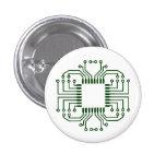 Electric Circuit Board Processor 3 Cm Round Badge