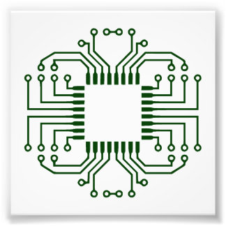 Electric Circuit Board Processor Photograph