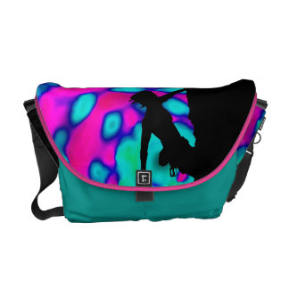 electric climber art Rickshaw messenger bag