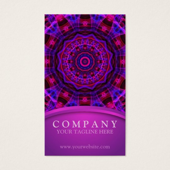 Electric Current mandala Business Card