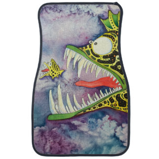 """Electric Ed"" Fish With Attitude Car Mat"
