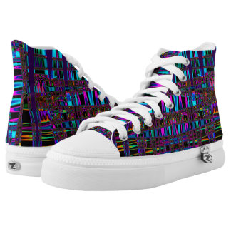 Electric Eel Abstract Art High Tops