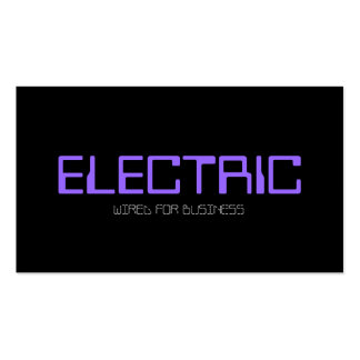 Electric Electrician Electricity Light Bulb Business Cards