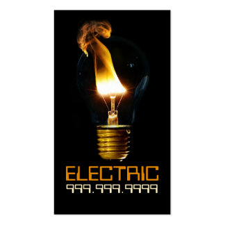 Electric Electrician Electricity Light Bulb Pack Of Standard Business Cards