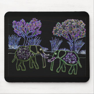 Electric Elephants Mouse Mat