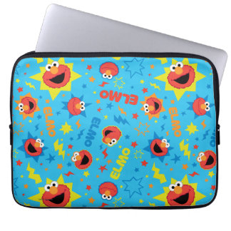 Electric Elmo Pattern Laptop Sleeve