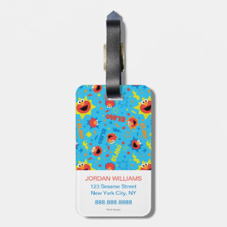 Electric Elmo Pattern Luggage Tag