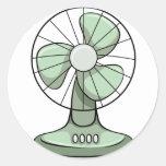 Electric fan round sticker