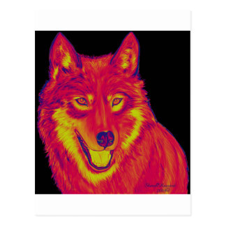 Electric Fire Wolf Postcard