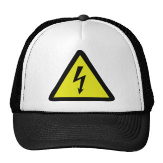 electric flash warning sign trucker hats