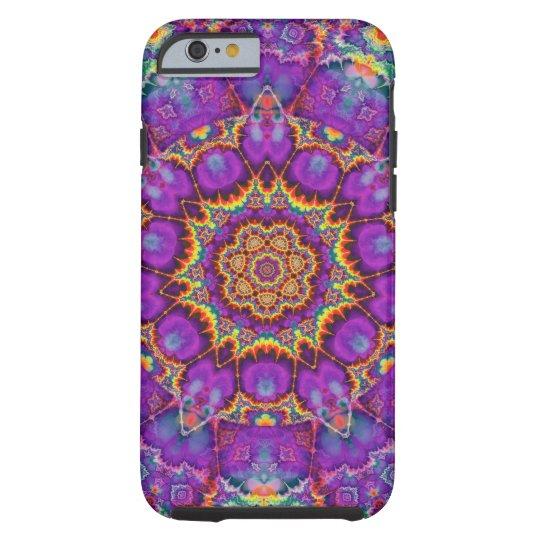 Electric Flower Purple Rainbow Kaleidoscope Art Tough iPhone