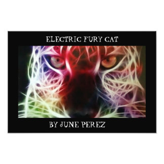 ELECTRIC FURY CAT PHOTO PRINT