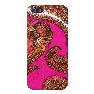 Electric Fuscia Pink Indian Paisley iPhone 5 Cases