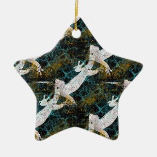 Electric Gecko Pop Art Ceramic Star Decoration