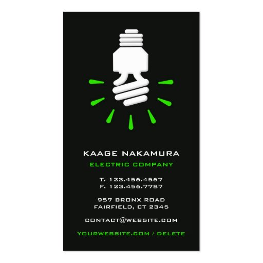 Collections of go green business cards electric go green business card reheart Image collections