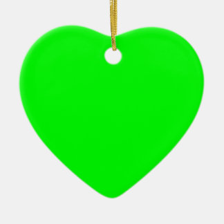 Electric Green Ceramic Heart Decoration