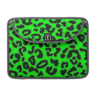 Electric Green Leopard Pattern Animal Print Sleeves For MacBook Pro