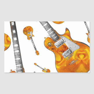 Electric Guitar 09 jpg Rectangular Sticker