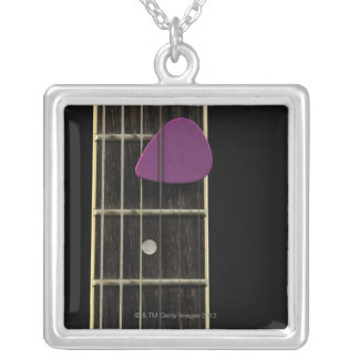 Electric Guitar 10 Silver Plated Necklace