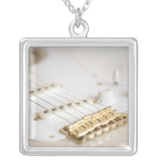Electric Guitar 11 Silver Plated Necklace